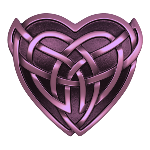 Purple Celtic Heart Wicked Ink
