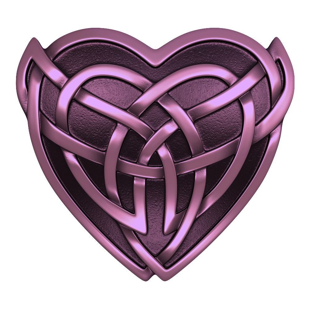 Purple Celtic Heart